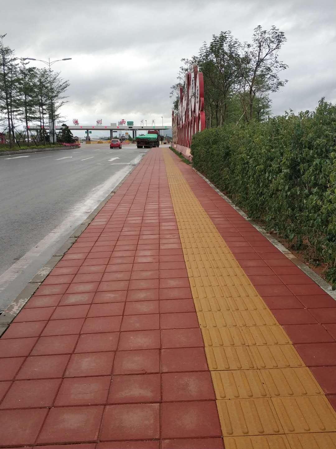 潮州市区黑底化步道砖工程2017年